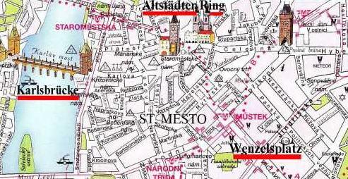 Prag Karte Sehenswurdigkeiten.Ulli Basse Von Letomerice Nach Prag
